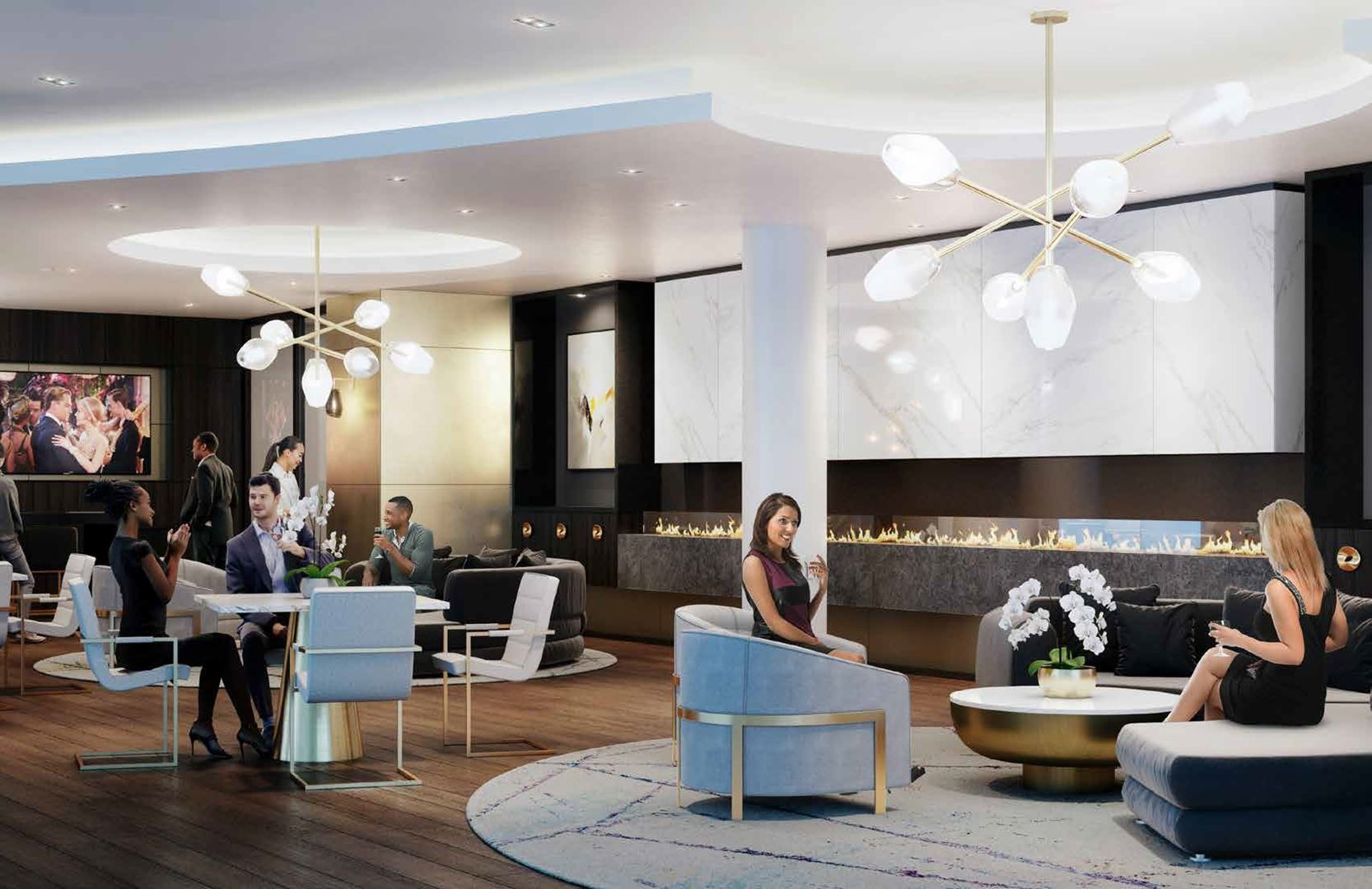 Canopy towers lounge